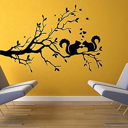 Buy Decor Kafe Home Decor Love Squirrel Wall Sticker, Wall Sticker ...