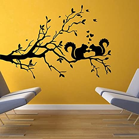 Buy Decor Kafe Home Decor Love Squirrel Wall Sticker Wall Sticker