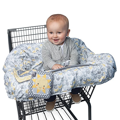 - Boppy Shopping Cart and Restaurant High Chair Cover, Sunshine/Gray