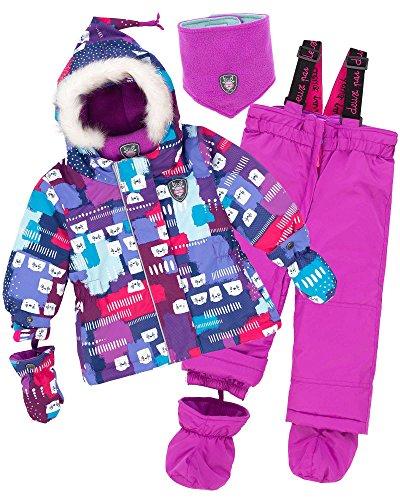 Deux par Deux Little Girls' 2-Piece Snowsuit Nap on the Floor, Sizes 18-36M - 30M by Deux par Deux