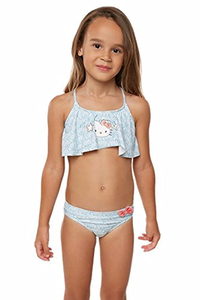914a37c27a Amazon.com: O'Neill Kids Womens Hello Kitty Shelly Flounce Top Swim Set ( Toddler/Little Kids): Clothing
