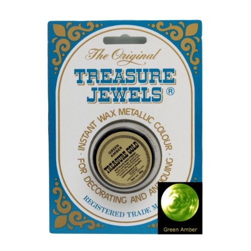 Green Monochrome Resin (Treasure Jewels Metallic Gilding Wax 1oz - Green Amber)