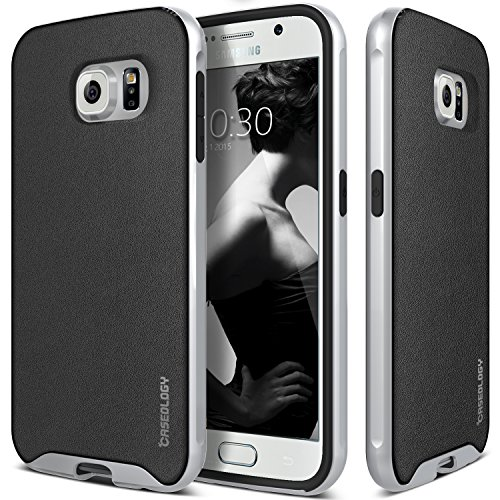 Classics Textured Charcoal (Galaxy S6 Case, Caseology [Envoy Series] Classic Rich Texture Leather Luxury Slim Cover for Samsung Galaxy S6 - Charcoal Black)