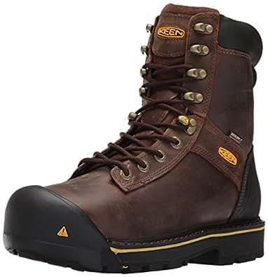 KEEN Utility Men's Wenatchee 8-Inch Steel Toe Work Boot,Brown,7.5 EE US