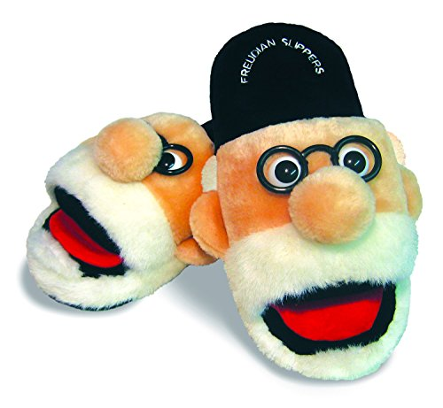 The Unemployed Philosophers Guild Freudian Slippers - Comfy Plush Slip-On Footwear - Size Large -