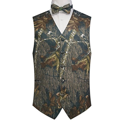 (Camouflage Vest & Tie Medium with Bow Tie)