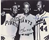 Roberto Clemente Willie Mays Hank Aaron 8x10 Photo reprint Awesome ! - Mint Condition