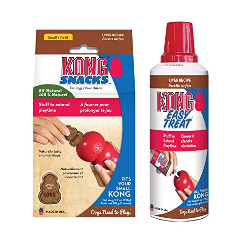 KONG - Liver Treats Combo Pack - Easy Treat Paste and Dog Snacks - for Small Dogs