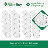 20 - Oreck Ironman Vacuum Bags. Oreck Part #s PKIM765 & 61963. Allergen Filtration Vacuum Bags designed by FilterBuy to replace Oreck XL Ironman Vacuum Bags