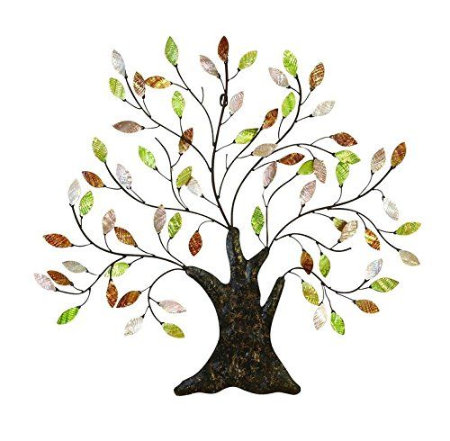 Tree of Life Wall Art Decoration Branch Shells Home (Metal Wall Hanging Tree)