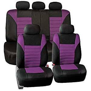 FH Group FB068PURPLE115 Purple Universal Car Seat Cover (Premium 3D Air mesh Design Airbag and Rear Split Bench…