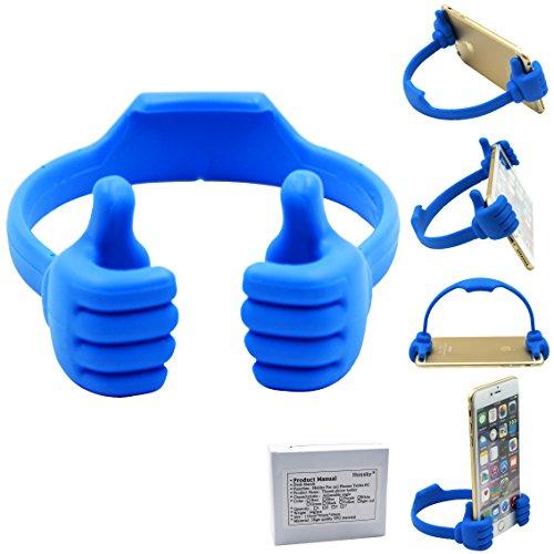 Honsky Universal Flexible Thumb Smartphone Stand Holder – Blue