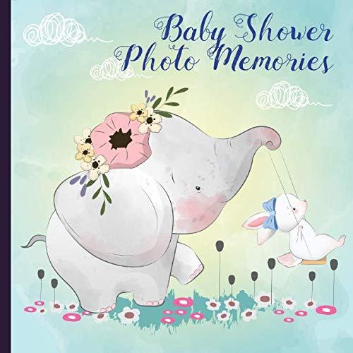 - Baby Shower Photo Memories: Elephant Baby Shower Photo Album Book