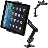 ChargerCity 360° Adjust Heavy Duty Tablet Wall Mount and AMPS Drill Base for iPad Pro Air mini Surface Pro Galaxy Tab S S7 Edge iPhone 7 Plus 6s SE Nexus HTC Samsung (Fits all Phones &Tablets)