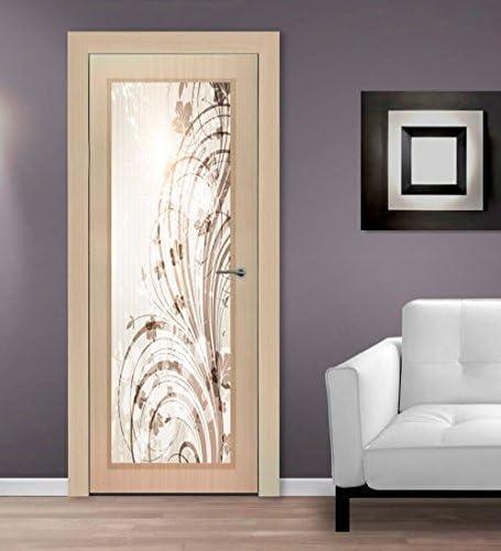 Porte Interne Con Vetro Decorato.Arte S R L Vetro Decorato Per Porte Interne Amazon It Casa E Cucina