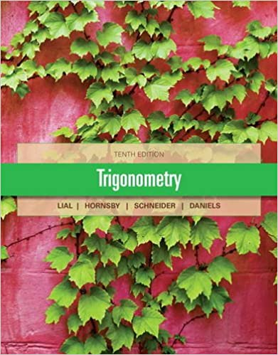 Trigonometry 10th Edition