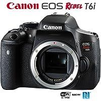 Canon EOS Rebel T6i Digital SLR Camera Body 0591C001 - (Certified refurbished)