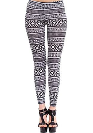 2B Black &White Tribal Legging 2b Bottoms Black White-m