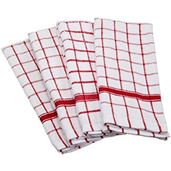 Amazoncom DII Cotton Terry Windowpane Dish Cloths 12 x 12 Set