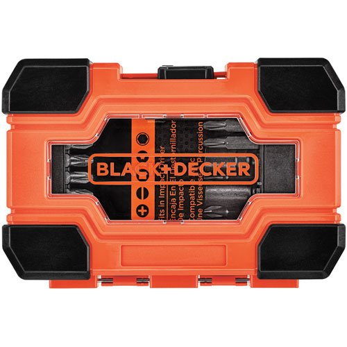 Black & Decker BDA32IRDD BLACK+DECKER Impact Ready Screwdriving Set, 32Pc, Black & Decker Screwdriver Bit