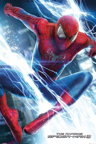 "The Amazing Spider-Man 2 - Movie Poster (Spidey Leaping) (Size: 24"" x 36"")"