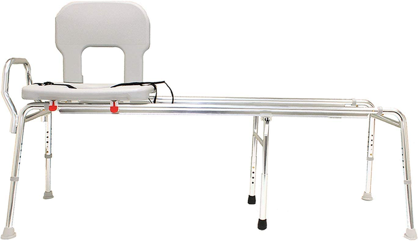 EagleHealth Toilet-to-Tub Sliding Bench 77993 XXL