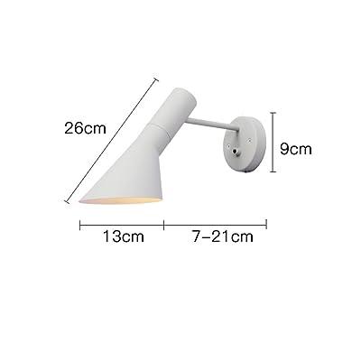 1411 Nordique Mur lampe en fer forgé moderne minimaliste personnalité créative lampe de chevet chambre couloir ombre réglable XQQQ