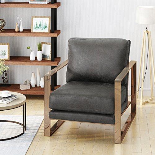 Armstrong Modern Microfiber Club Chair, Slate