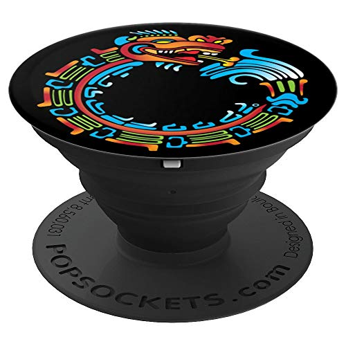 Ouroboros Quetzalcoatl Feathered Serpent Aztec Mayan  PopSockets Grip and Stand for Phones and Tablets