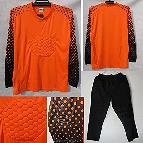 Amazon.com : FidgetFidget Mens Soccer Goalkeeper Sponge Protector Suit Camisetas De Futbol OrangeUS S/Asian L : Sports & Outdoors