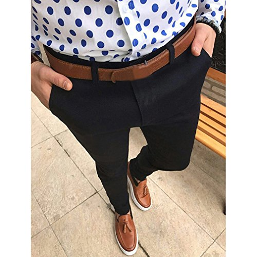 Des Mode La Respirant Noir Unie Work Pocket Business D'été Serrés De Taille Avec Grande Hommes Pantalons Costume Yying Décontracté Couleur wq7Eq
