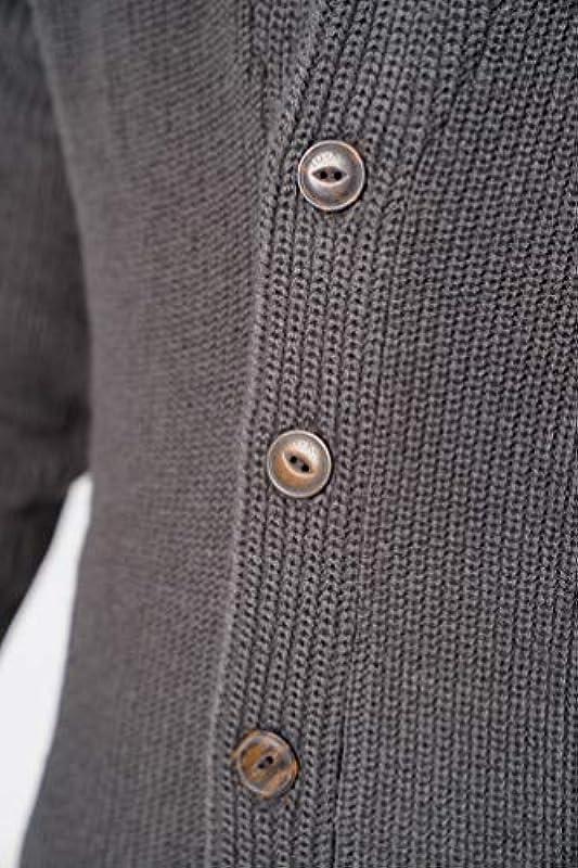 Tokyo Laundry Męskie Wollmischung Schalkragen Strickjacke: Odzież