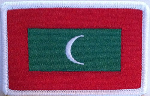 Maldives Embroidery Iron-on Patch Emblem White Border