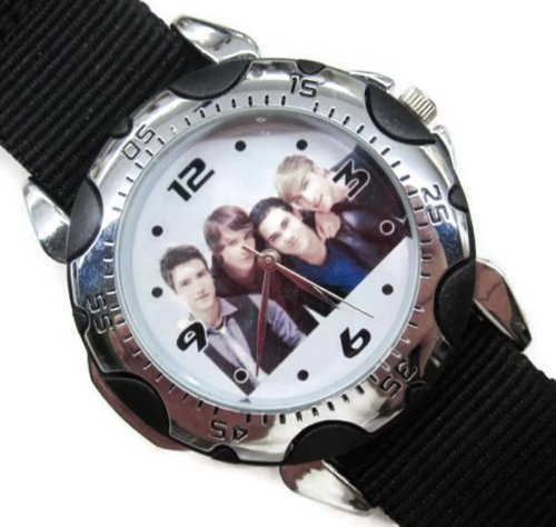 Fashion Men Watch PSP18 Rotating Bezel Sporty Wrist Watch + Nylon Strap - Big Time Rush