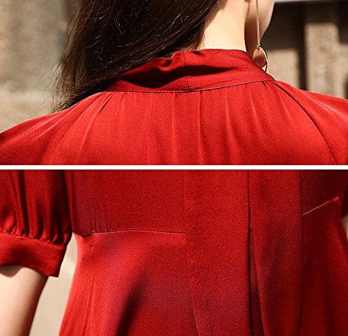 Seide Long Abendkleid Rot Gestreift Übergröße Knee DISSA S9986 Kleider Cocktail Kleid Damen fv0xFfIqw