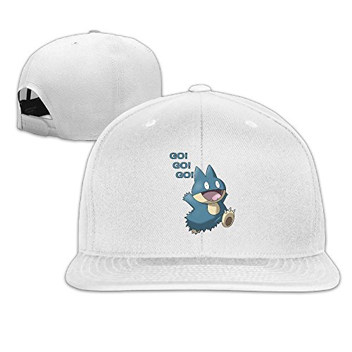 Price comparison product image Karoda Snorlax Flat Brim Baseball Caps Hip Hop Hat White