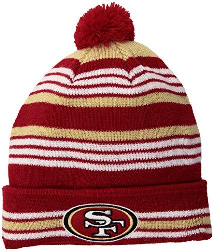 - NFL San Francisco 49ers Rickshaw OTS Cuff Knit Cap with Pom, Red, Kids