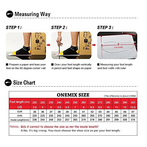 Lago Blu da Air Running Sneaker Uomo Nero Corsa ONEMIX Basse Ginnastica Scarpe Sportive vRxx74B