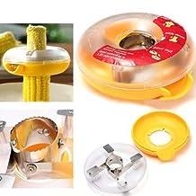 Buycrafty Corn Kerneler Kitchen Tool No Mess Corn Stripper Cutter Shaver Cob Remover Dishwasher Safe