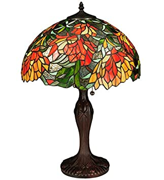 Tiffany Style Stained Glass Light Lamella Table Lamp