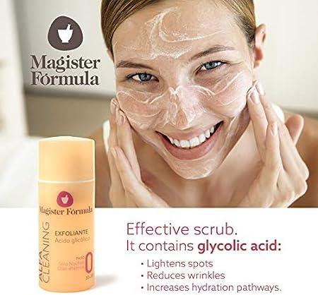 Gel Crema Exfoliante Facial Alfa Cleaning 30 ml | Ácido Glicólico | Efecto peeling | Aclara manchas | Reduce arrugas | Hidratante | Todo tipo de pieles | Mujer y Hombre | Noche y Días Alternos