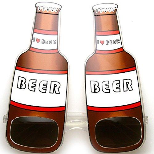 zeroUV - I love Beer Beer Bottle Drinking Celebration Funny Party Sunglasses - I Love Eyewear