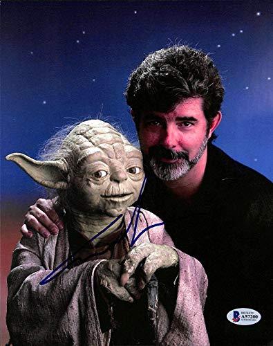 George Lucas Star Wars Signed 8x10 Photo w/Yoda BAS #A57200 - Beckett Authentication