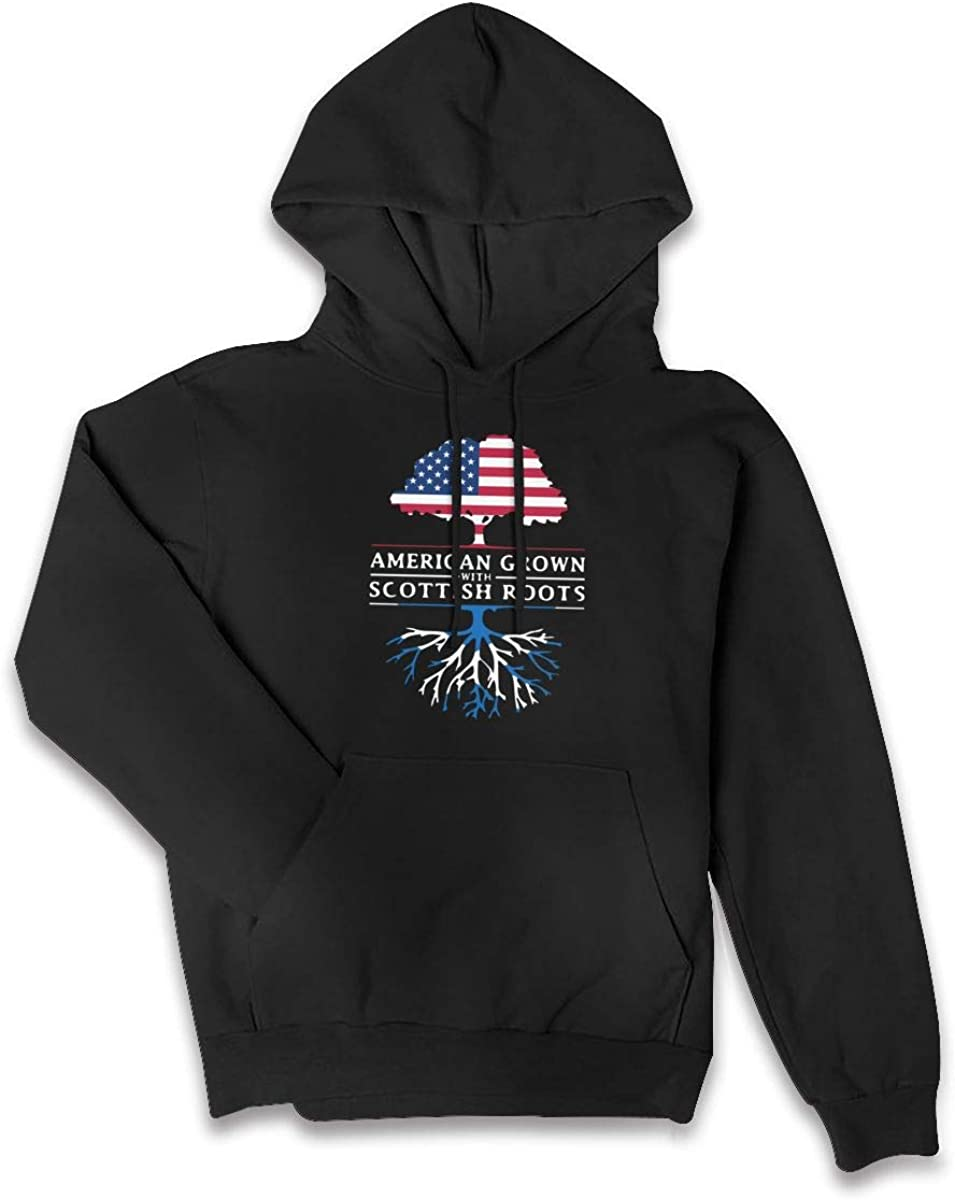 American Grown with Scottish Roots Sport Outwear with Kanga Pocket HZ0010 Womens Sports Sweatshirt Hoodies
