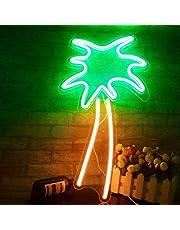 Neonowe oświetlenie LED, dekoracja ścienna do pokoju, pokoju dziecięcego, sypialni, na urodziny, imprezę, do baru, 45 x 18 cm (drzewo palmowe)…