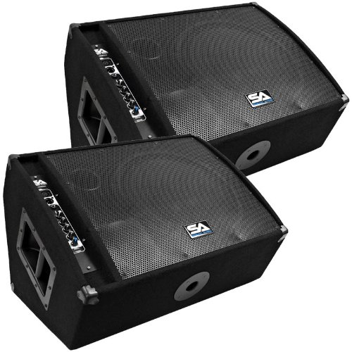 Seismic Audio - FL-15MP-PW-Pair - Pair of Premium Powered 2-Way 15