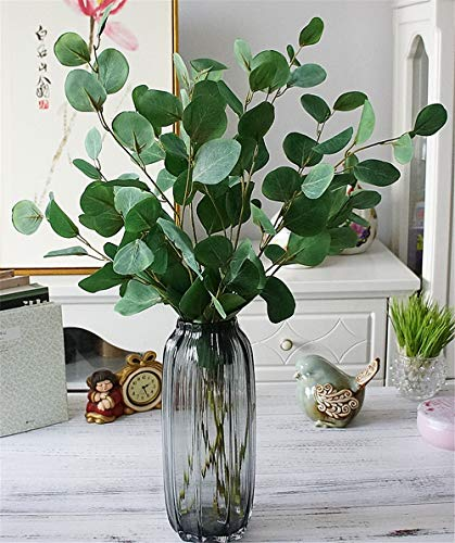 YINGYOUYHD Single Branch Eucalyptus Pulp Money Leaf Eucalyptus Leaves Home Decoration Decoration Fake Flower Artificial Flower Plant