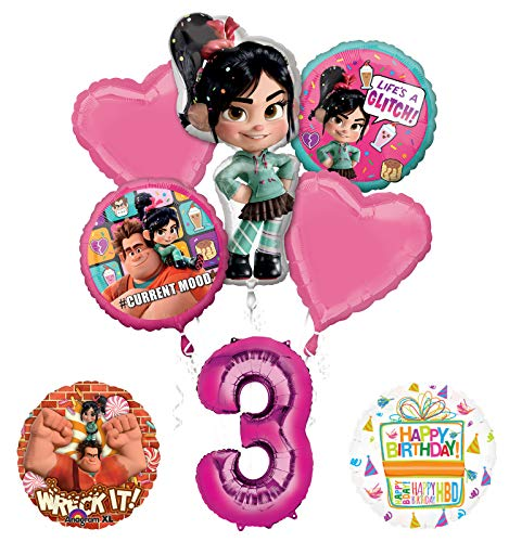 Wreck It Ralph 3rd Birthday Party Supplies Balloon Bouquet Decorations -