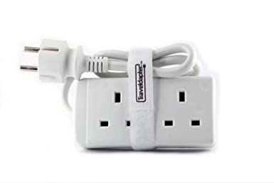 Amazon.com: Travel Adapter EURO LITE Earthed Moulded Multi ...