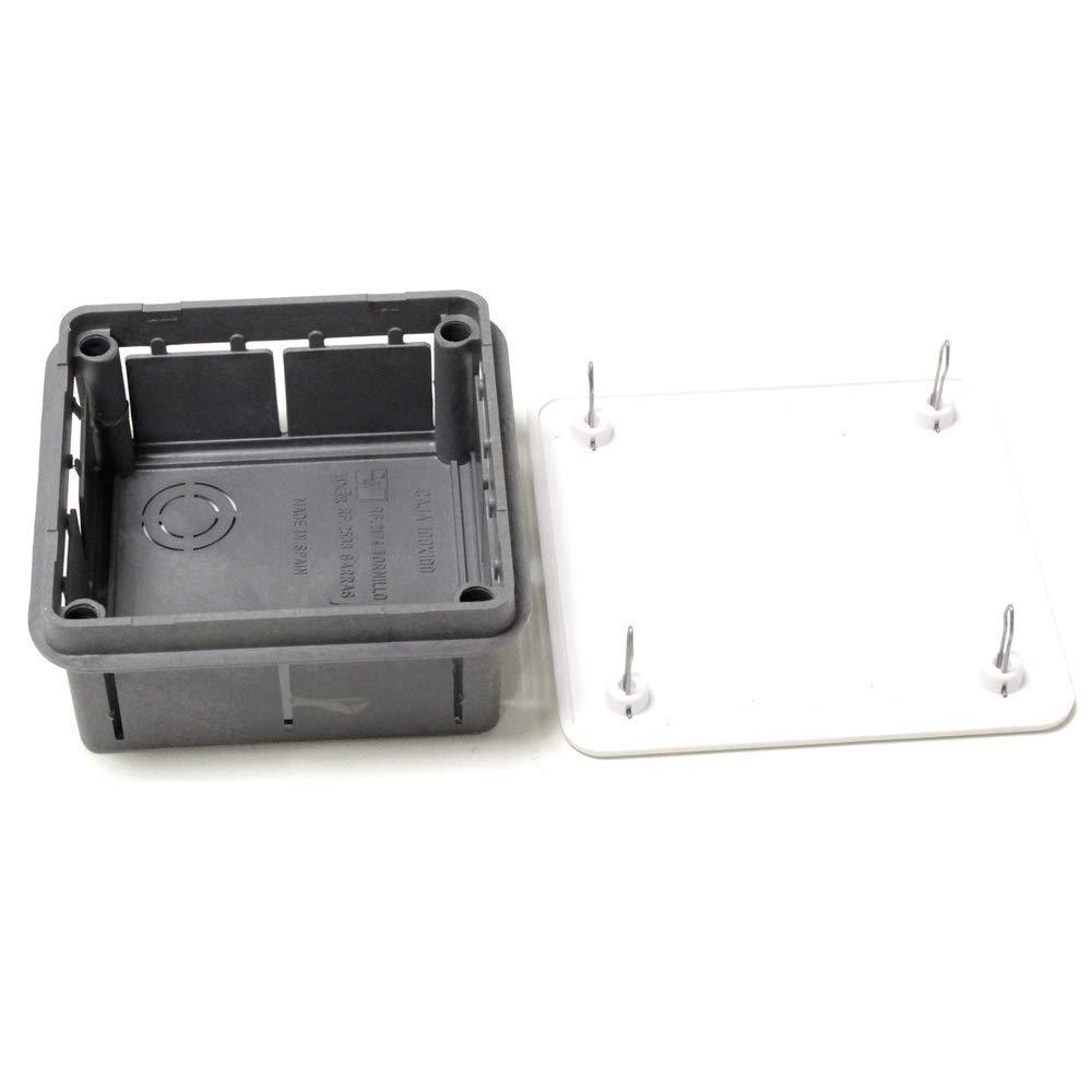 BeMatik - Caja empotrada de Registro eléctrico Cuadrada 100x100x52mm: Amazon.es: Electrónica